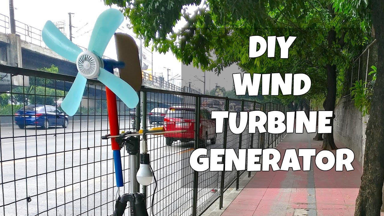 Diy Wind Turbine Power Generator Youtube Turbines For Electricity Generation Come In All Sizes And They