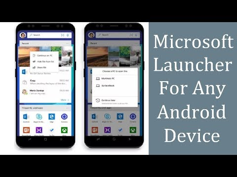MICROSOFT LAUNCHER for any Android Device | Connect Launcher