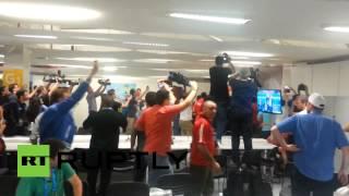 Chile soccer fans storm Maracana stadium