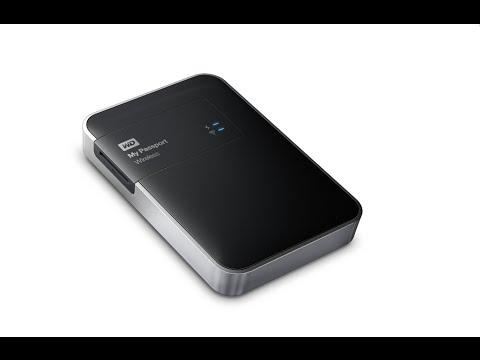 Disco duro externo portátil de 1 TB (Wi-Fi, lector de tarjetas)