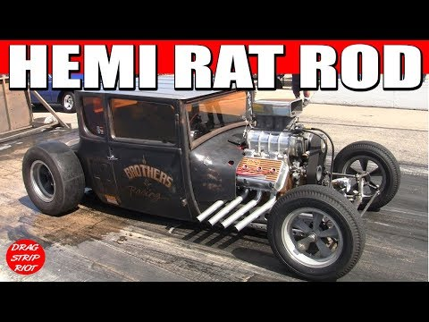INSANE HEMI POWERED RAT ROD Drag Racing Video