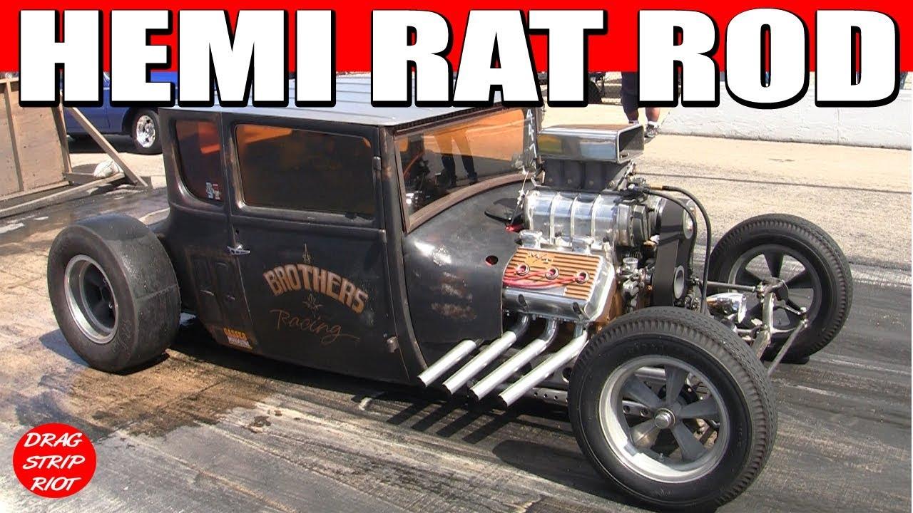 2015 Hunnert Car Heads Up Drags Hemi Powered Rat Rod Drag Racing 1/4 ...