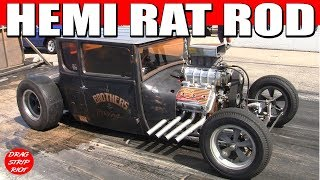 2015 Hunnert Car Heads Up Drags 354 Hemi Rat Rods Hot Rods Race Nostalgia Drag Racing Videos