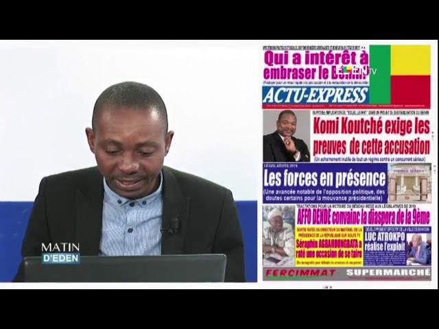 LA UNE DES JOURNAUX DU 02/10/2018 Corneille AISSE