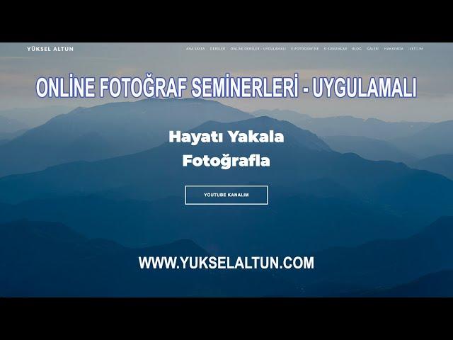 Online Fotoğraf eğitimleri bilgi videosu - Haziran 2020
