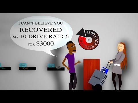 video:$300 Data Recovery - Recording Studio Animation - Hard Drive & RAID Data Recovery