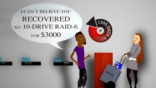 $300 Data Recovery - Recording Studio Animation - Hard Drive & RAID Data Recovery