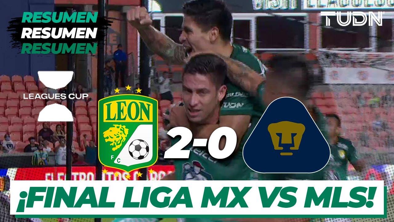 Download Resumen y goles   León 2-0 Pumas   Leagues Cup 2021 Semifinal   TUDN