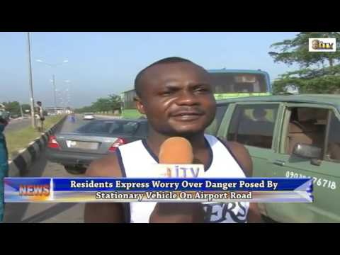 Residents In Benin Express Worry Over Danger Posed By Stationary Vehicle On Airport Road