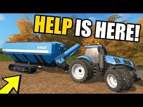 FARMING SIMULATOR 2017 | THE FARM HAND ARRIVED FOR HARVEST & WITH A KINZIE CART