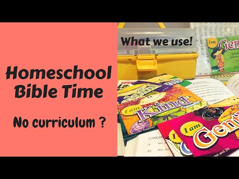 Homeschool Bible Time // What we use