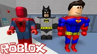 ROBLOX: ESCAPE from the SUPER HEROES!! -(Super Hero's)