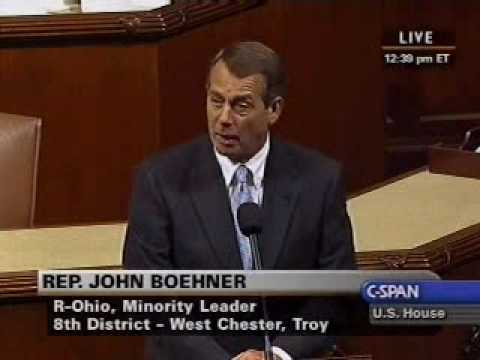 Boehner: It's Time to Shut Down TARP