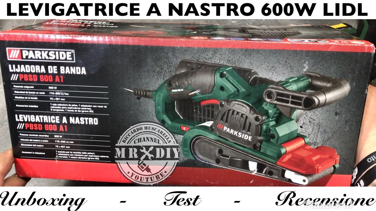 Recensione levigatrice a nastro 600w lidl parkside pbsd for Levigatrice a penna multifunzione parkside