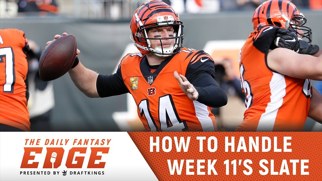 Daily Fantasy Edge Podcast Draftkings Nfl Week 11 Youtube