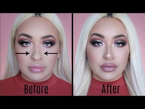 HOW TO FAKE A NOSE JOB WITH MAKEUP | FOR BEGINNERS