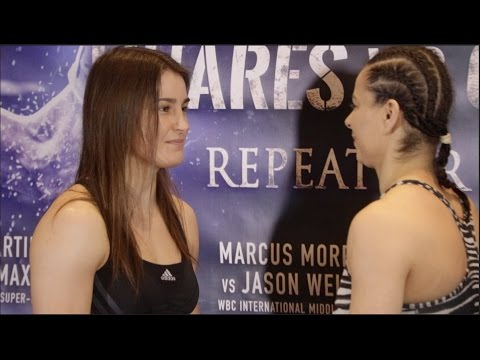 JEWEL OF EIRE!! - KATIE TAYLOR  v MILENA KOLEVA - OFFICIAL WEIGH IN & HEAD TO HEAD