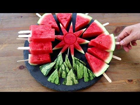 3 Fun Watermelon Cutting Garnish | Fruit Carving Tricks