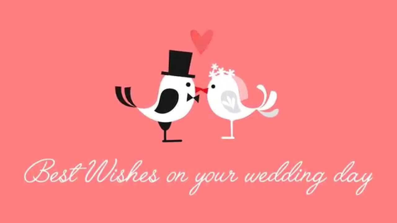 Best wishes on your wedding day ecards 04 youtube for Best day for a wedding