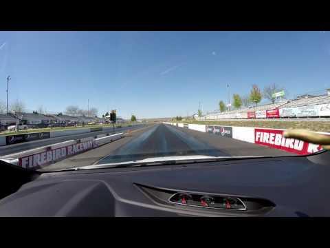 2016 Ford Focus ST bone stock 1/4 mile run at Firebird Raceway in Idaho