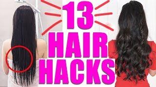 13 HAIR HACKS DIE DEINE HAARE RETTEN 😱 FLECHTEN, SCHNELLER WACHSEN | KINDOFROSY