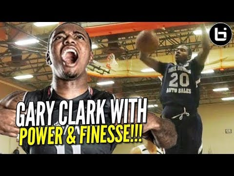 Gary Clark aka the STAT STUFFER: Shows Off Finesse Game at PIT in Front of NBA Scouts