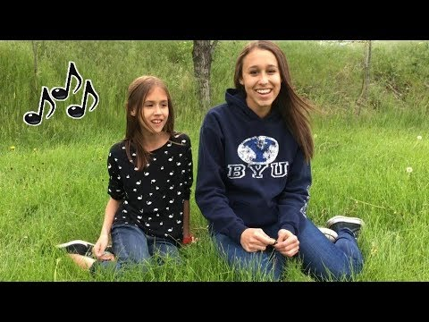 Presley Noelle & Brooklyn Noelle, singing outside, Benjamin Calypso