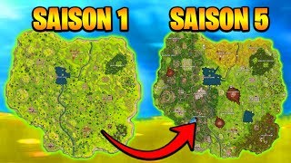L'EVOLUTION DE LA CARTE DE FORTNITE ! DU DÉBUT A MAINTENANT !