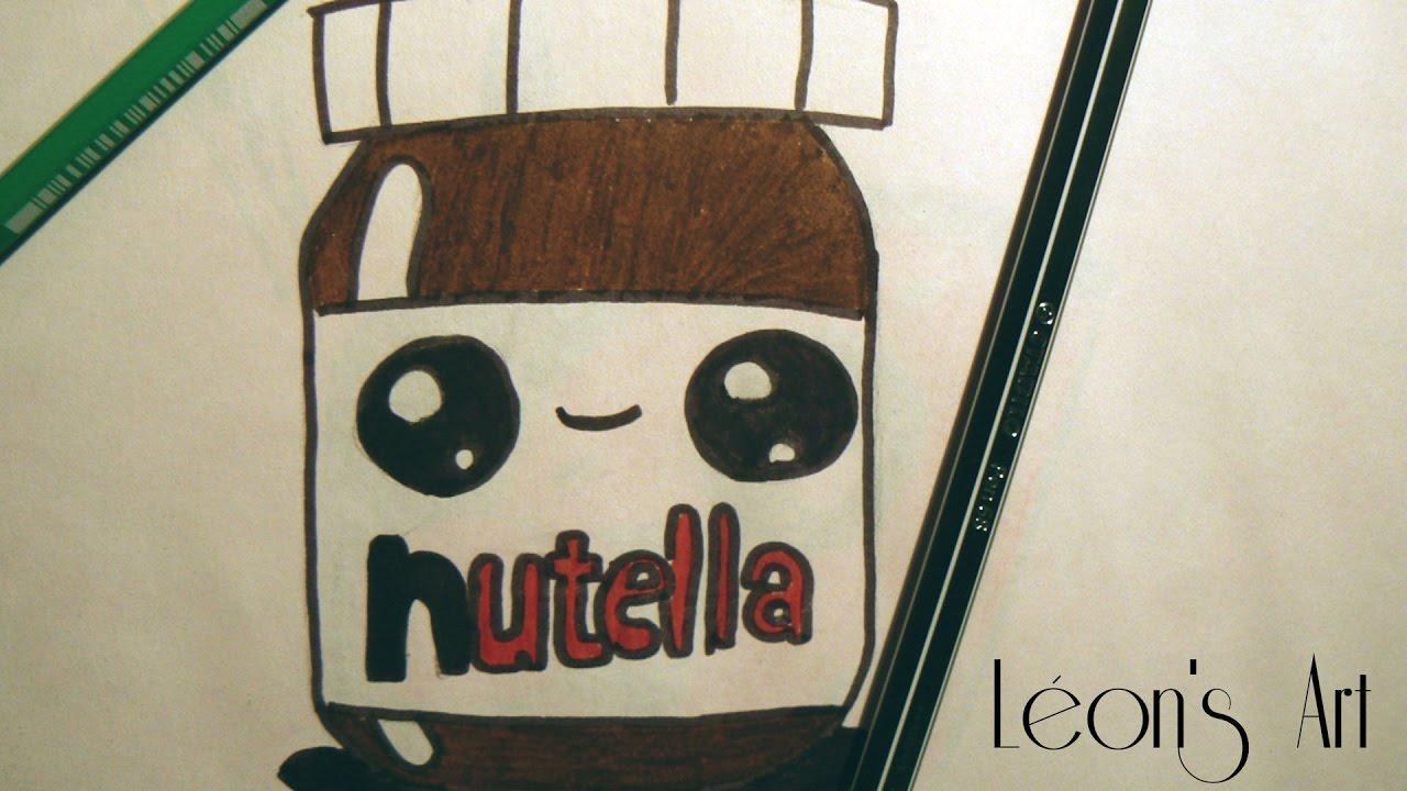 Comment Dessiner Un Pot De Nutella En Kawaii