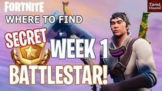 How To Find SECRET Week 1 BATTLESTAR! (Fortnite Battle Royale Season 7 Snowfall)
