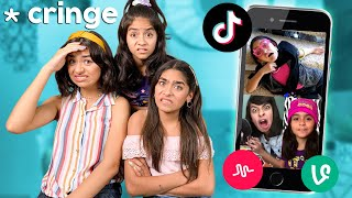 Reacting To Our Old Videos *Embarrassing* Vine : Musically : Tik Tok | GEM Sisters