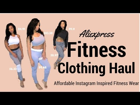 Huge Trendy Aliexpress Affordable Instagram Inspired Fitness Clothing Try On Haul (Starting @ $4)