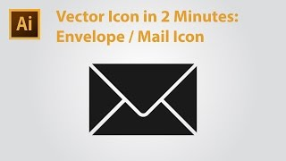 Vector Icon in 2 Minutes - Mail Icon/Envelope Icon