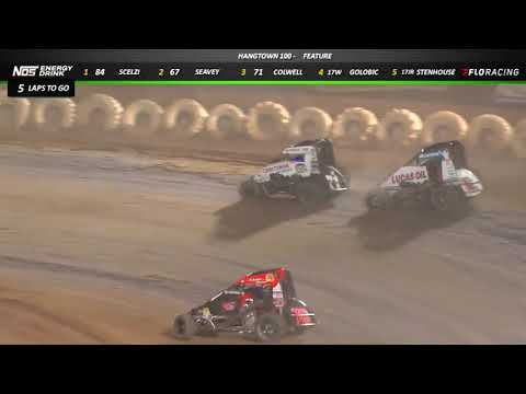 """Highlights: Gio Scelzi delivers for night one of the """"Hangtown 100"""" at Placerville Speedway for the USAC NOS Energy Drink National & Western States Midgets. - dirt track racing video image"""