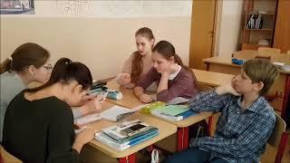 Фрагменты урока Лит ра+англ яз.