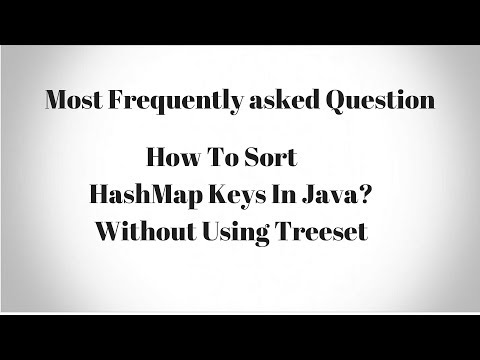 How To Sort HashMap Keys In Java Without Using TreeMap?