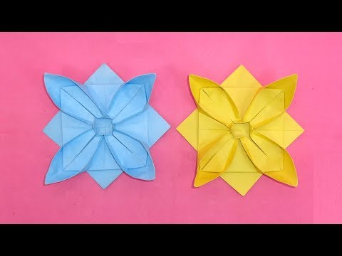 How To Make Simple And Easy Paper Star Flowers - DIY Paper Craft Ideas Video Tutorial - Star Flowers