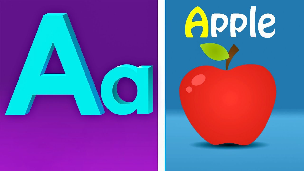 Phonics Song with TWO Words - A For Apple - ABC Alphabet Songs for Children