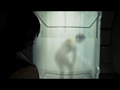 Death Stranding - Sam Peaking on Fragile in the Shower