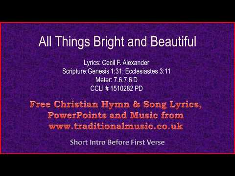 All Things Bright And Beautiful(MP23) - Hymn Lyrics & Music