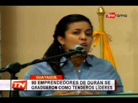 90 emprendedores de Durán se graduaron como tendero líderes