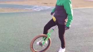 외발자전거 unicycle 대구팔공클럽 김순희님 수직타기 연습
