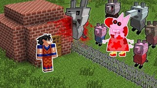 DESAFIO DA BASE VS PEPPA PIG.EXE NO MINECRAFT !! SOBREVIVEMOS A PEPPA PIG DO DEMÔNIO ?