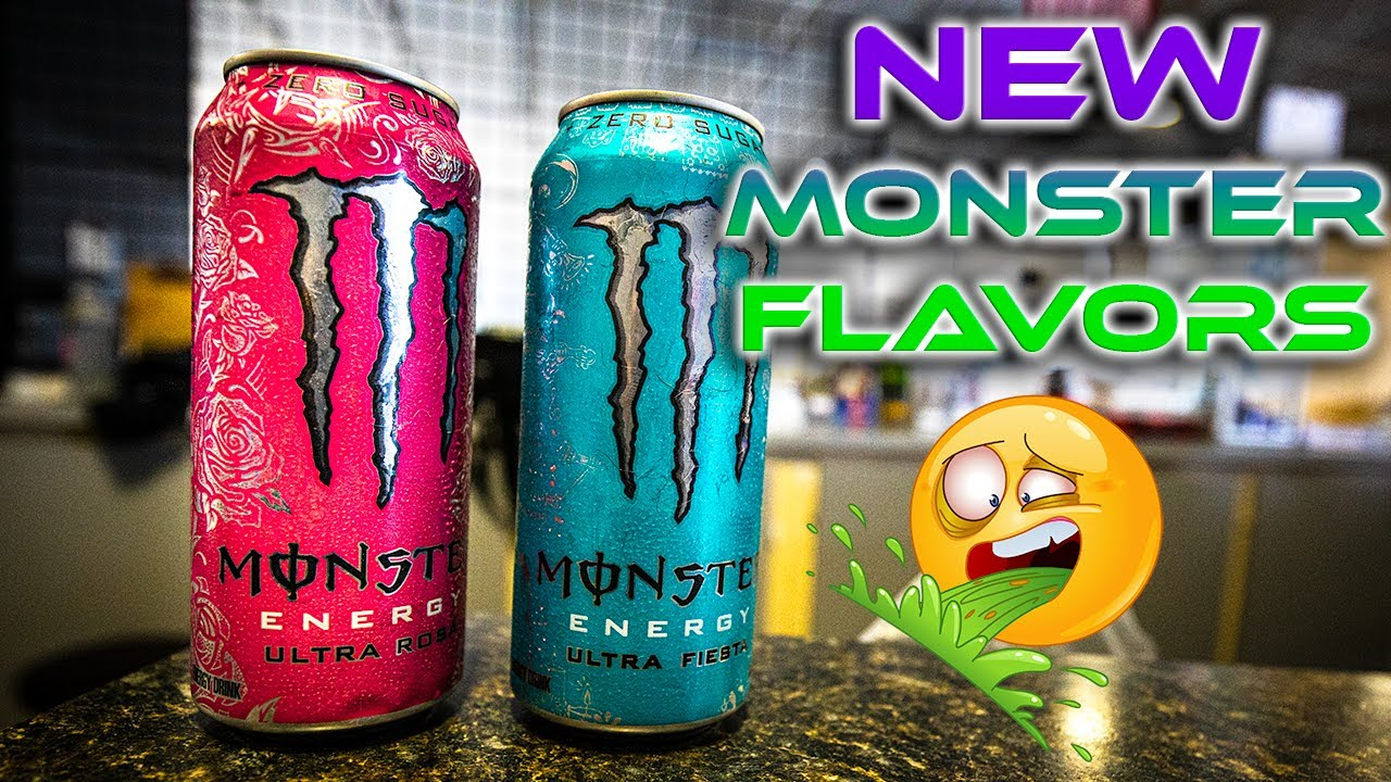 New Sugar Free Monster Energy Drink Review Ultra Rose Ultra Fiesta Youtube