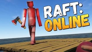 ВДВОЕМ С ДЕВУШКОЙ В ОКЕАНЕ - Raft Multiplayer