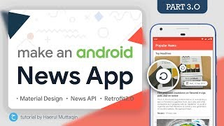 Refresh News 🔄 (SwipeRefreshLayout) - Android News App Tutorial #3 • Retrofit2 • Matrial Design