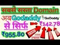 Cheap domain on godaddy purchase in low price only in Rs.142.78