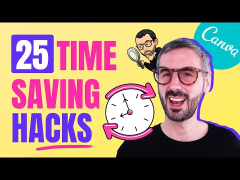 How to DESIGN FASTER in Canva: 25 Productivity Hacks to SAVE TIME