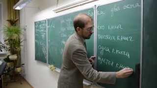 Пазынин Валерий Вячеславович -  урок русского языка в 8 классе