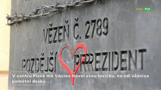 Plzeň si připomněla 85. výročí narození Václava Havla (00:01:40)